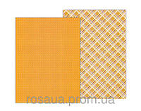 Бумага с рисунком А4 Heyda Клетка 21х29.7см двухсторонняя Оранжевая 300г/м2 4823064953954