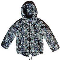 Детская куртка с капюшоном демисезонная Print 98