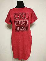 Трикотажное турецкое летнее платье  под джинс, бордо