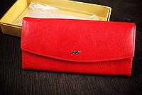 Кошелек красный 6013 Braun Buffel, без метала, натуральная кожа