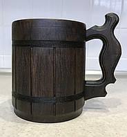 Деревянная кружка с металлической вставкой 0,5л