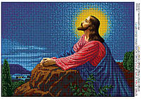 """Схема для полной вышивки бисером """"Молитва в Гефсиманском саду"""""""