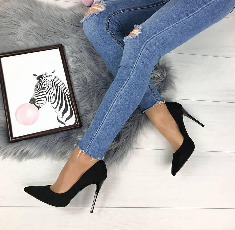 6db86ade7 Туфли женские лодочки недорого черный замш леопардовая подошва - интернет-магазин  обуви