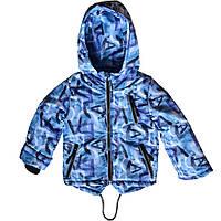 Детская куртка с капюшоном демисезонная Print 110