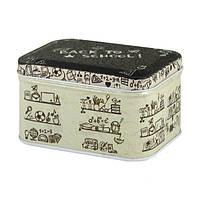 Металлическая коробка для сыпучих Ностальжи Опять в школу, 100г ( кухонный контейнер )