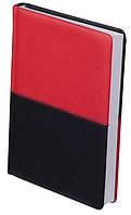 Ежедневник недатированный А5 Buromax 288 стр. красный с черным QUATTRO BM.2024-94