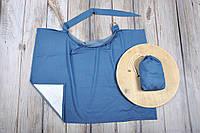 Накидка для кормления + сумочка-чехол, Джинс, фото 1