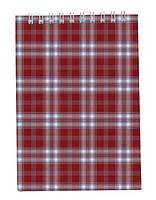 Записная книга блокнот Buromax А6,48 л. клетка карт. обл. спираль бордовый BM.2480-13