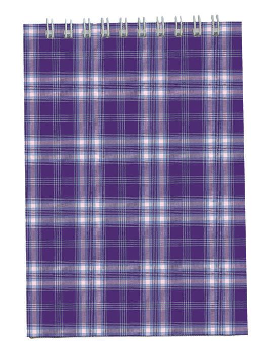 Записная книга блокнот Buromax А6,48 л. клетка карт. обл. спираль фиолетовый BM.2480-07