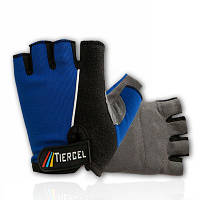 Вело перчатки летние  синие  L, XL