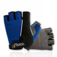 Вело перчатки летние  синие M, L, XL, XXL
