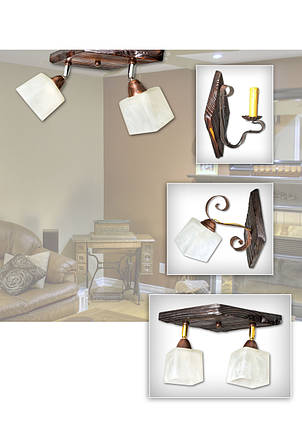 Бра настенные светильники 1701 Ромб, фото 2