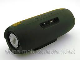 JBL Charge E11 10W копия, Bluetooth колонка c FM MP3, черная с желтым, фото 3
