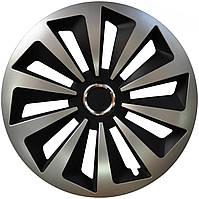 Колпаки Jestic Fox Ring Mix Black Silver R14 (к-т 4 шт.)