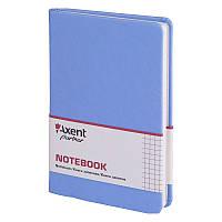 Записная книга блокнот Axent 125х195мм 96л клетка,тв. обл.,голубой Partner Lace 8208-07-A
