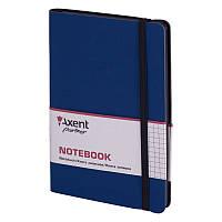 Записная книга блокнот Axent 125х195мм 96л клетка,тв. обл.,синий Partner Soft 8206-02-A