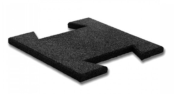 Резиновая плитка-пазл 20 мм (черная)