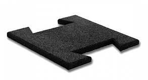 Гумова плитка-пазл 20 мм (чорна)