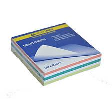 Блок бумаги для заметок непроклеенный Buromax 80х80х20мм ассорти цветов BM.2255