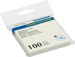 Блок бумаги для заметок липкий слой Buromax 76x76мм 100л ассорти цветов пастель BM.2312-10