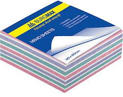 Блок бумаги для заметок проклеенный Buromax 80х80х30мм ассорти цветов BM.2252