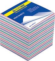 Блок бумаги для заметок непроклеенный Buromax 90х90х70мм ассорти цветов BM.2269