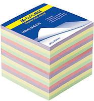 Блок бумаги для заметок непроклеенный Buromax 90х90х70мм ассорти цветов BM.2289