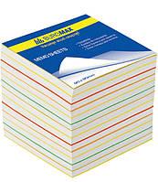 Блок бумаги для заметок непроклеенный Buromax 90х90х70мм ассорти цветов BM.2249