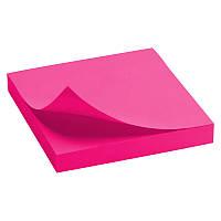 Блок бумаги стикеры 75x125мм Delta by Axent 80стр розовый липкий слой D3414-13