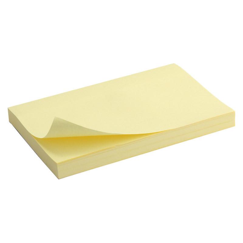 Блок бумаги для заметок липкий слой Axent 75x125мм 100л желтый D3316-01