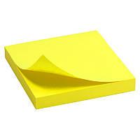 Блок бумаги стикеры 75x75мм Delta by Axent 80стр желтый липкий слой D3414-11