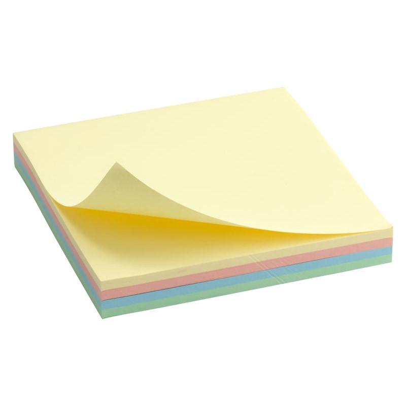 Блок бумаги для заметок липкий слой Axent 75x75мм 100л ассорти цветов неон D3325-01