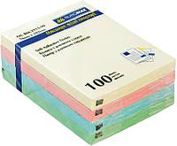 Блок бумаги для заметок липкий слой Buromax 76x102мм 100л ассорти цветов BM.2313-99
