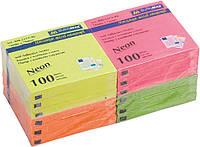Блок бумаги для заметок липкий слой Buromax 76x76мм 100л ассорти цветов BM.2312-98