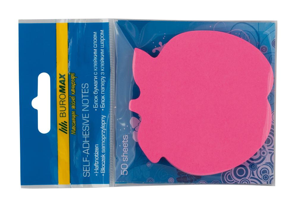 Блок бумаги для заметок липкий слой Buromax 70x70мм 50л ассорти цветов BM.2360-99