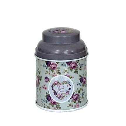 Железная банка для кофе и чая Старый стиль Сердце, 50г ( баночка для сыпучих ), фото 2