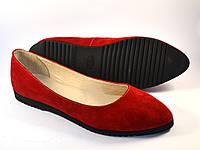 """Балетки замшевые женская обувь больших размеров Gracia V Red by Rosso Avangard BS цвет красный """"Сольферино"""""""