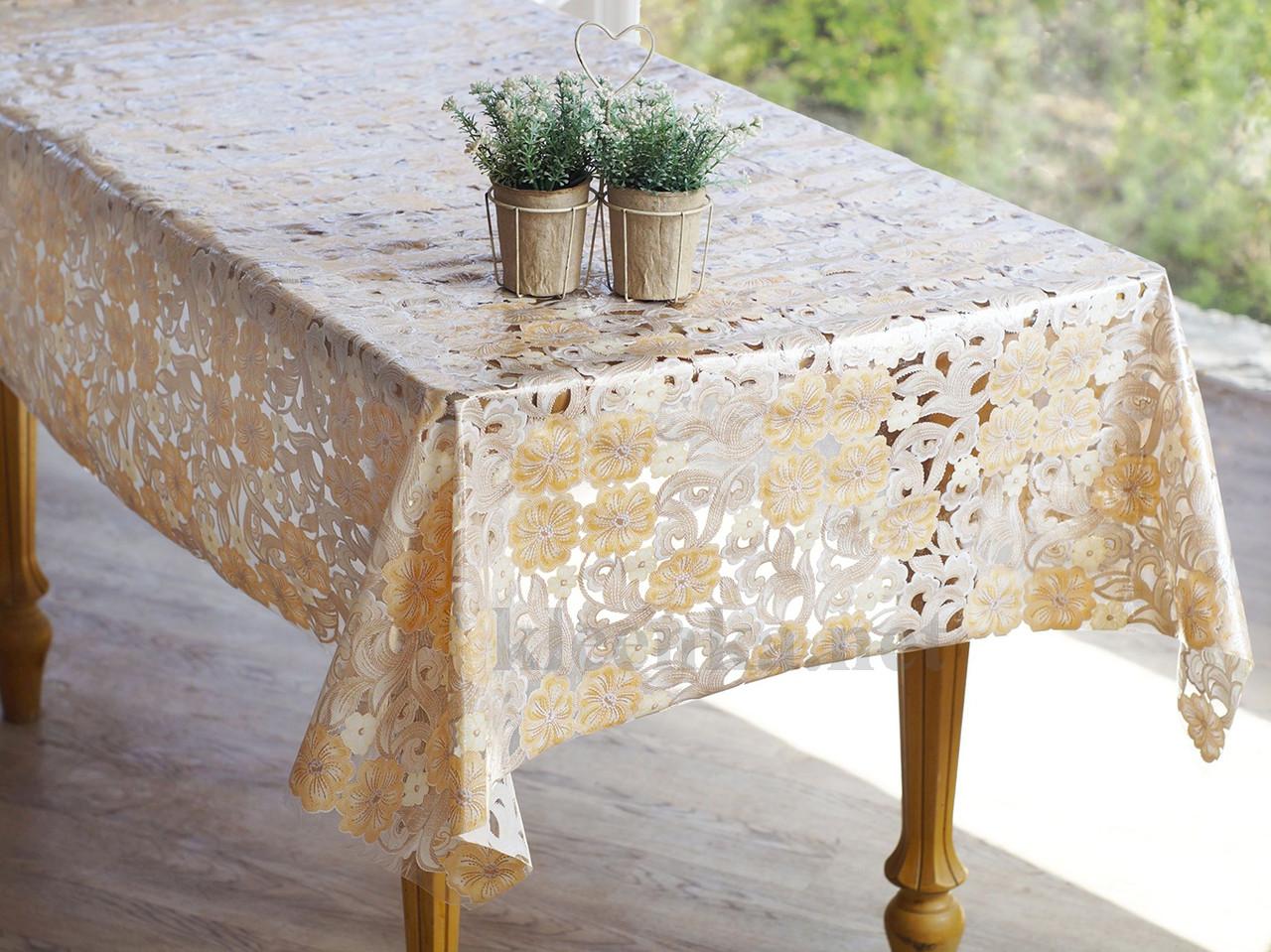 Клеенка Ажурная на праздничный стол, высокое качество!