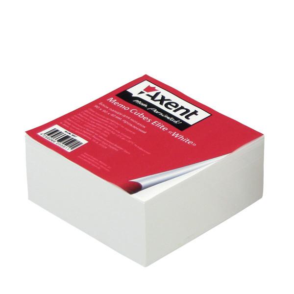 Блок бумаги для заметок Axent проклеенный 90x90x20мм белый 8005-A