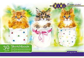 Альбом для рисования ZiBi A4 30л 100г/м2 скоба ZB.1425