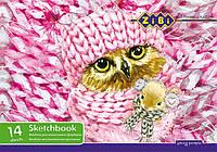 Альбом для красок ZiBi A4 14л 100г/м2 скоба ZB.1462