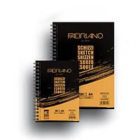 Альбом для эскизов на спирали Schizzi Sketch А5 (14,8х21см), 90г/м2, 60л., Fabriano