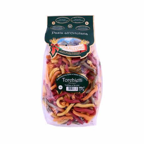 Макароны твердых сортов цветные Pasta Torchietti «Tarall'Oro», 500 гр.
