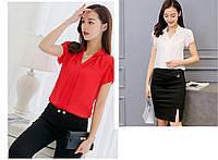 Женская повседневная блуза воротник стойка, фото 1