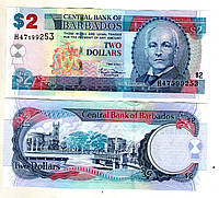 Барбадос /Barbados  2 доллара 2007 год состояние UNC