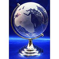 Глобус хрустальный белый (8)(13х8,5х8,5 см)(6052) ( 2821)