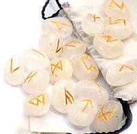 Руны каменные, Горный Хрусталь (набор рун 25 шт.)