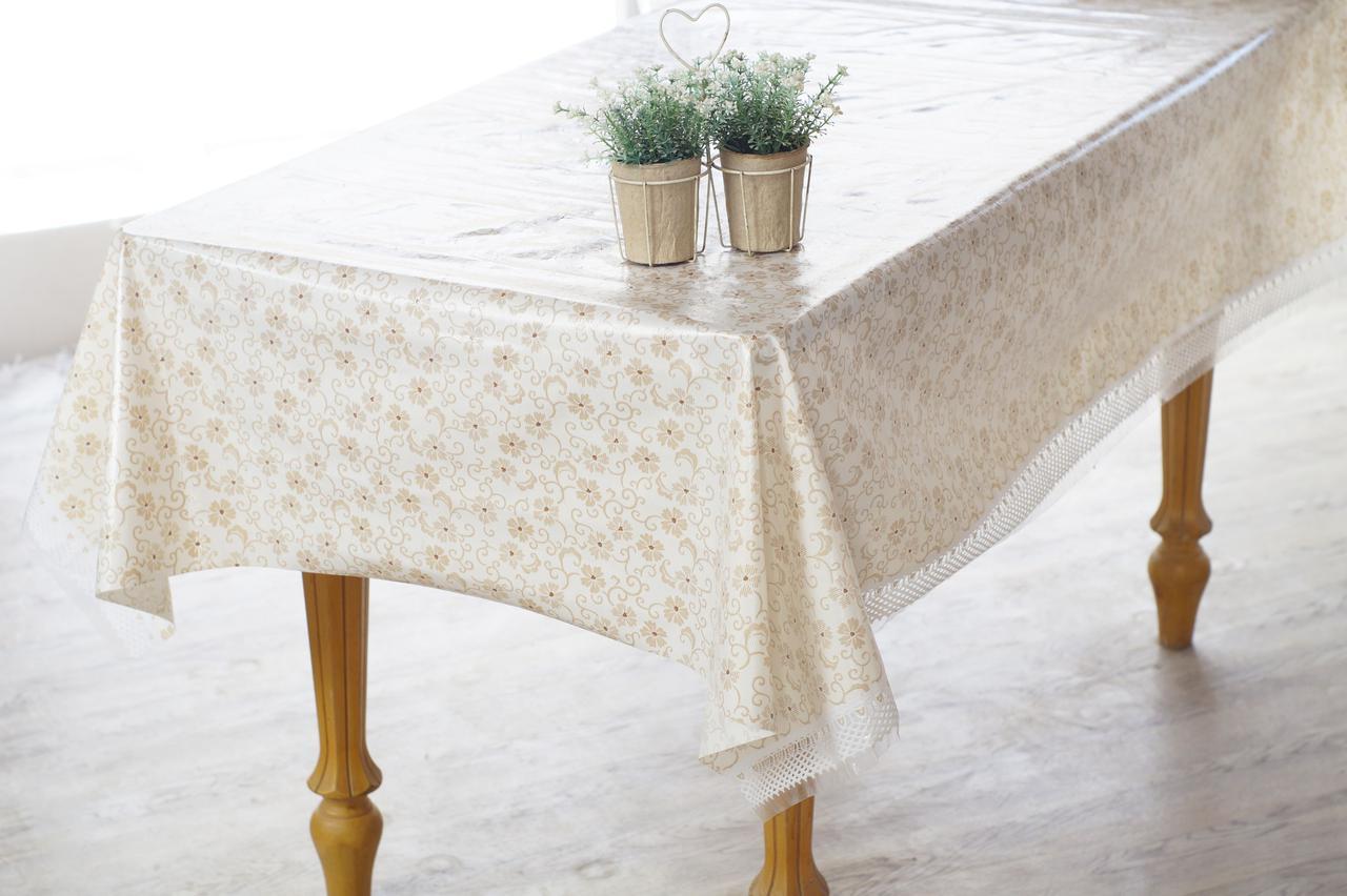 Клеенка кухонная на стол Ажур Лейс Нежность