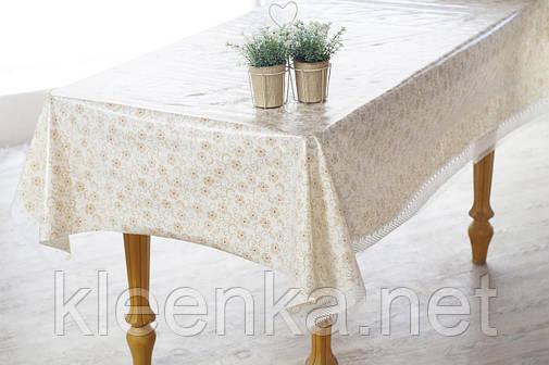 Клеенка кухонная на стол Ажур Лейс Нежность, фото 2