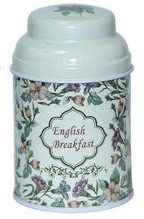 Металлическая баночка для чая и кофе Старый стиль Английский завтрак, 75г ( банка для сыпучих ), фото 2